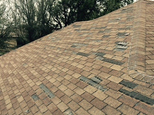 The condition of these shingles is extremely poor and is ready to be replaced.